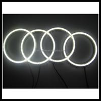 4x131mm led 66 smd ccfl angel eyes ring kit for bmw e38 e36 e39 e90 e83 x3 e46 6000k led halo ring headlight dc 12v