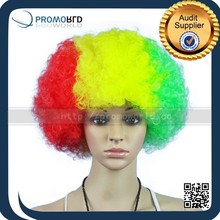 fashion cheap colorful football fans wig party hair wigs explosive hairpiece