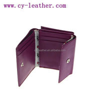 Folding vogue high quality woman leather purse