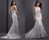 New design fashion halter V-neck sleeveless wedding gowns Beading High Quality Lace Mermaid Wedding Dresses 2015