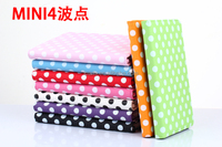 Wholesale Price For iPad Mini 4 Polka Dot 360 Rotation Stand PU Leather Case Cover