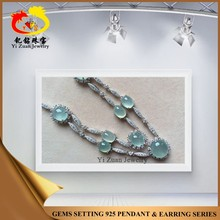 Fashion high quality infinity 925 silver green myanmar jade jewelry