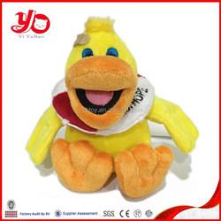 YOG factory yellow duck stuffed animal, yellow duck plush toy, plush toy yellow duck