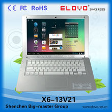 IPS screen cheap quality sliver color Android laptop computer 13inch dual core Android laptop VIA WM8880 laptop bluetooth inside