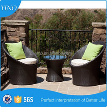 3 pcs.Space Saving Sofa Set Wicker Antique (Table and Chair) BR0024