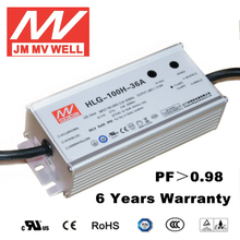led ic driver 100w 36v waterproof IP65 rubycon E-cap 48v with 6 years warranty UL TUV CB CE RoHS CCC EMC
