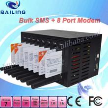8 ports 3G WCDMA/UMTS/EDGE/HSDPA modem pool SIM5320 bulk sms modem pool