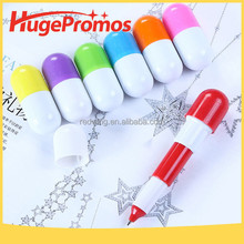 Coustom Logo Cartoon Mini Pill Box Pen for Promotion Gift