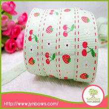 DIY high quality fashion design beautiful custom printed grosgrain ribbon