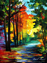 sunny october--leonid afremov modern competitive price knife painting