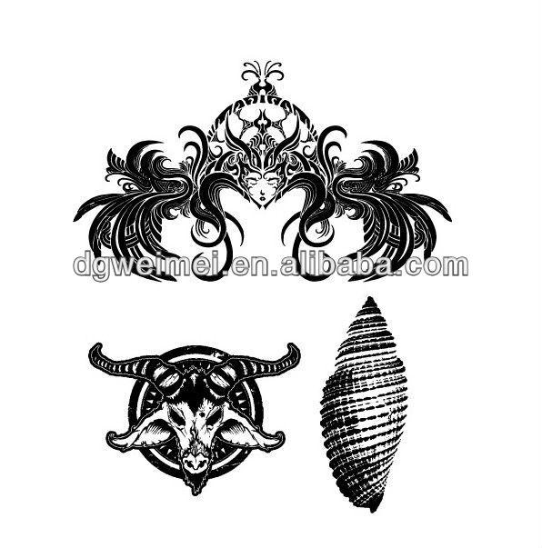 Jts537 tribal cabeça da cabra personalizando tatoo temporária