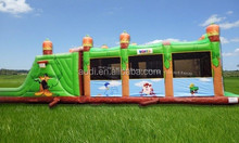 hot!!! wholesale inflatable Looney Tunes Obstacle Course