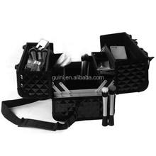 Hot! Mysterious Fashion Black Diamond Portable Cosmetic Case Practical Storage Makeup Case