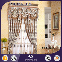 Fashion Home Textile Line Jacqurd Polyester offic curtain