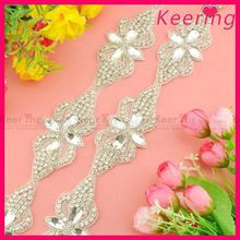 wholesale crystal rhinestone wedding appliques for wedding dresses WRA-711