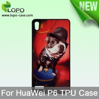 Custom blank sublimation TPU mobile phone cases for HUAWEI P6