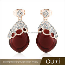 2015 OUXI fashion factory direct price gold drop earring best sale jewelry