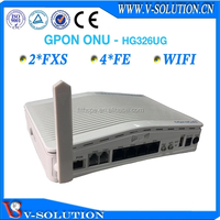 FTTH node,optical receiver 4FE+2POTS+WiFi GPON ONT modem router made in China