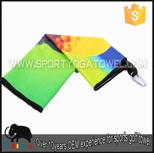 Print waffle disposable antibacterial golf towel with hook