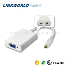 Manufacturer high quality mini hdmi to vga converter cable adapter