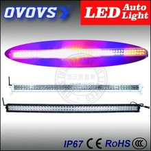 OVOVS offroad colorful flash 288w 50inch led light bar for 4x4 car accessories