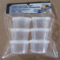 Wholesale travel Easy to carry plastic salad cup