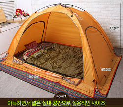 Korean Design Heating Warm Camping 3 person  tent making supplies