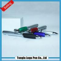 Unique design hot sale ball point pen with led light
