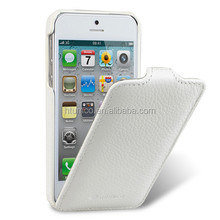 Premium Leather Case for Apple iPhone 5/5S/5C - Jacka Type (White LC)