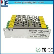High Quality Input Voltage AC 100-240V Worldwide 12V 2.5A 30W Switch Mode Power Supply