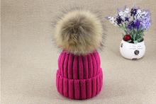 fashion wholesale price multi color rabbit / fox / mink/ raccoon fur ball /pom poms