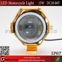 High power U6 15w 12v led c ree driving lights motorcycle fog lights motorcycle led driving lights