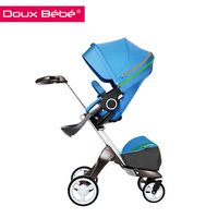 Doux bebe 2015 best selling baby product four wheels baby carriage