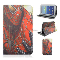 Amazing Spider-man PU Leather Tablet Case For Samsung Galaxy Tab 3 7inch P3200/T210/T211 That Can Fold Stand