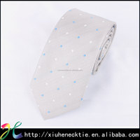 Clean simple dot polyester necktie for men design