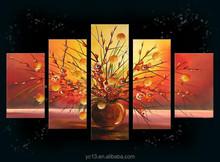 5pcs panel hotel decor vases modern painting