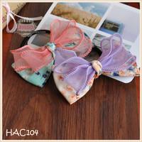 Vintage Inspired,shabby Baby Girl Ivory -Cream Rosette Bow, elastic headband,Toddler ,Infant ,girl headband