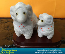 Nice design mother and baby sheep granite sculpture