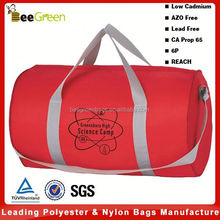 Promotional 600D polyester canvas duffle bag, sports duffle bag