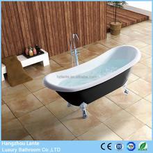 Cheap price black classic acrylic bathtub with feet