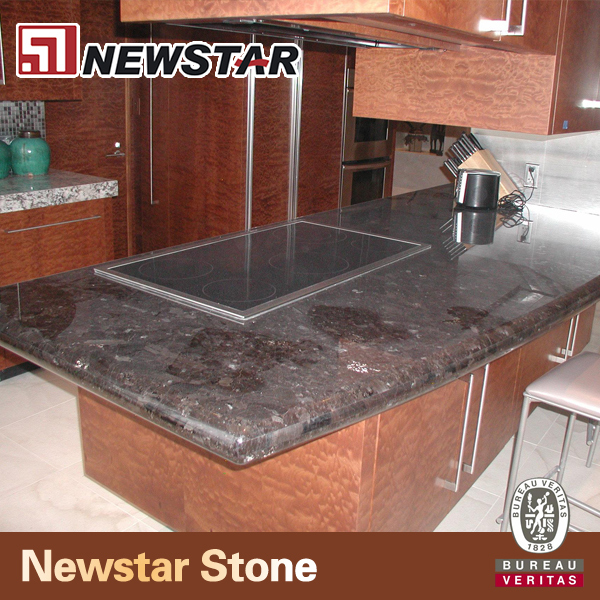 Antiqued Marble Countertops: Antique Brown Granite Precut Kitchen Countertop