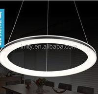 LED circle ring pendant light