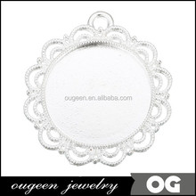 manufacturer top sell design cameo setting blank alloy big latest pendant designs