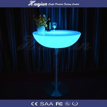 LED plastic 16 color changing tall bar table& bar table for sale