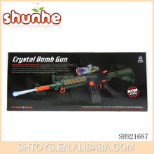 2 in 1 toy gun soft bullet and water bullet gun toy with crystal bomb