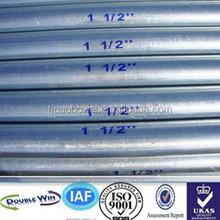 Rigid Galvanized steel Tubes Size standard