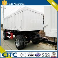 CITC brand 25 ton dump truck new all 1axles 2 axles tipper semi trailer