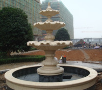 Carved marble custom made water fountain bases