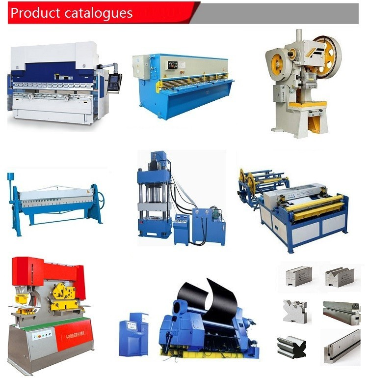 Product list of ironworker,shearing machine,press brake,rolling machine,power press and hydraulic press