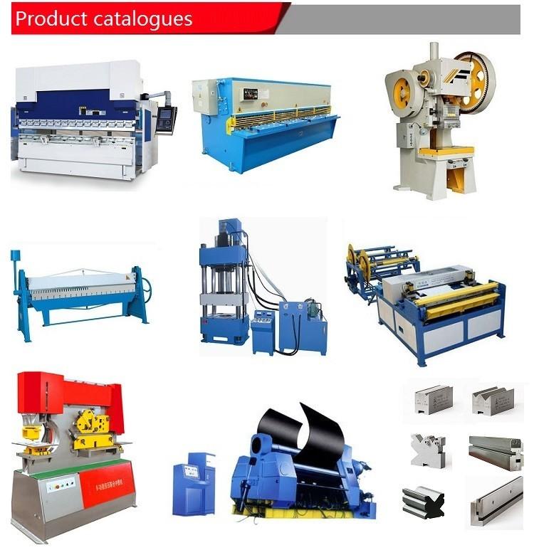 Product list of ironworker,shearing machine,press brake,rolling machine,power press and hydraulic press